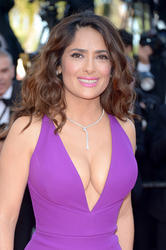 "Salma Hayek - Major Cleavage At ""Rocco And His Brothers"" Premiere in Cannes - (5/17/15)"