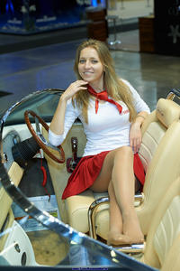 Russian hostesses in pantyhose