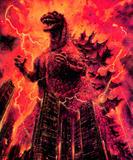 Godzilla attacks buildings
